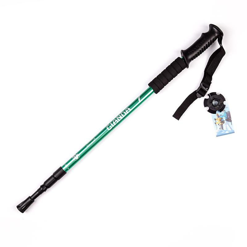 Outdoor Sports Climbing Mountaineering Accessory Crutch Camping Hiking Pole Walking Telescopic Stick Cane Trekking Skiing Rod