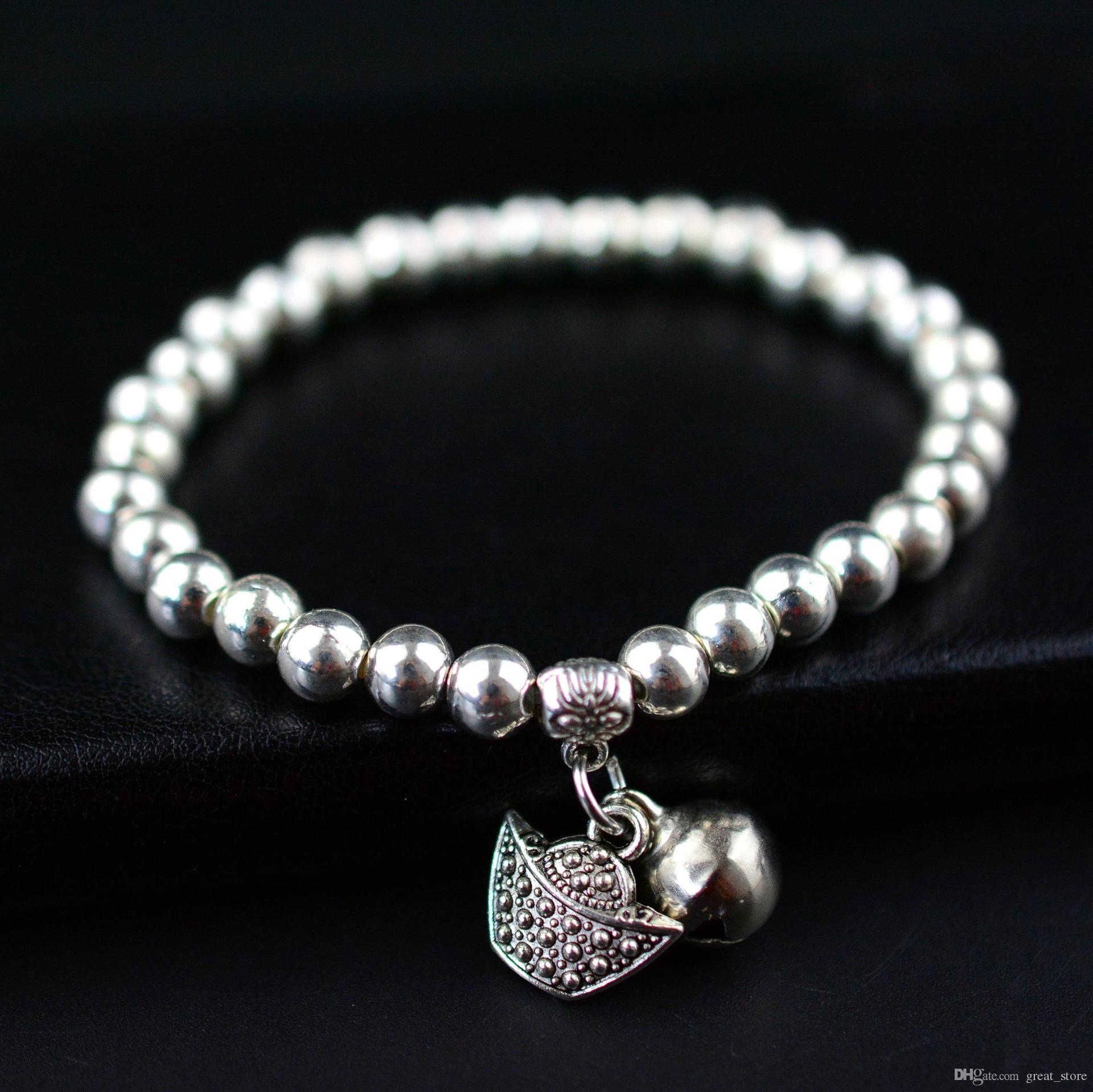 Kostenloser Versand Mode Verkauf Mode Miao Silber Armband Silber Silber Armband FB218 Mischungsauftrag 20 Stücke Viel Charme Armbänder