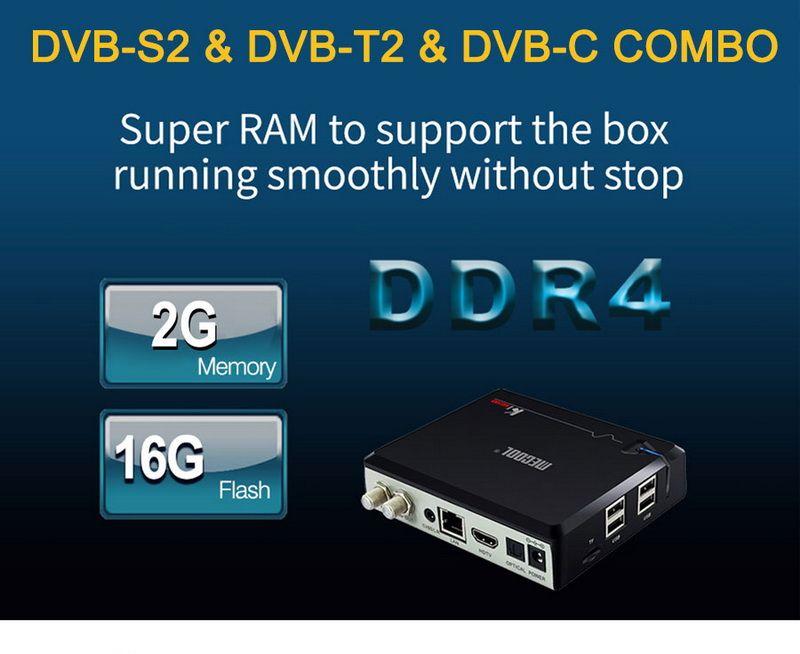 Mecool KI Pro Android TV Box DVB S2 T2 DVB-C récepteur de télévision par satellite Smart Mini PC DDR4 2 Go de RAM 16 Go Amlogic S905D Quad Core Wifi Media Player