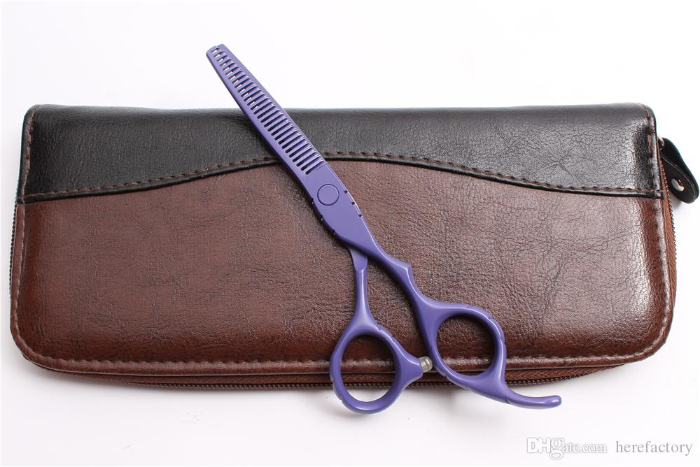 """C1010 6"""" Japan Customized Logo Purple Professional Human Hair Scissors Barber's Hairdressing Scissors Cutting Thinning Shears Styling Tools"""