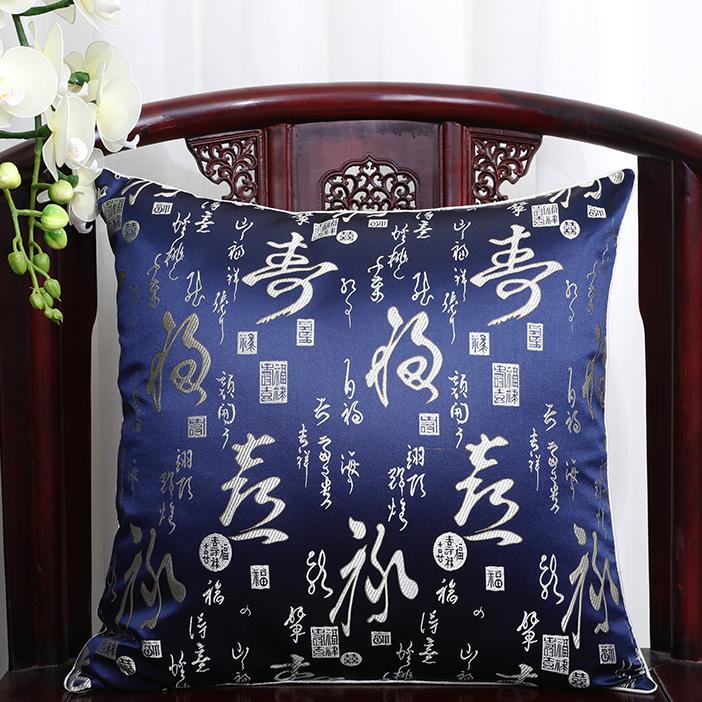 Färgglada blommiga jular stora kudde täcker hem dekorativa lyx kudde omslag vintage silke satin kasta kuddefall