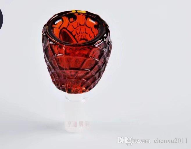 Réveil de bande dessinée accessoires de verrerie, Bongs de verre en gros Brûleur à mazout Tuyaux en verre Eaux Pipe Rigs de pétrole Fumer Livraison gratuite