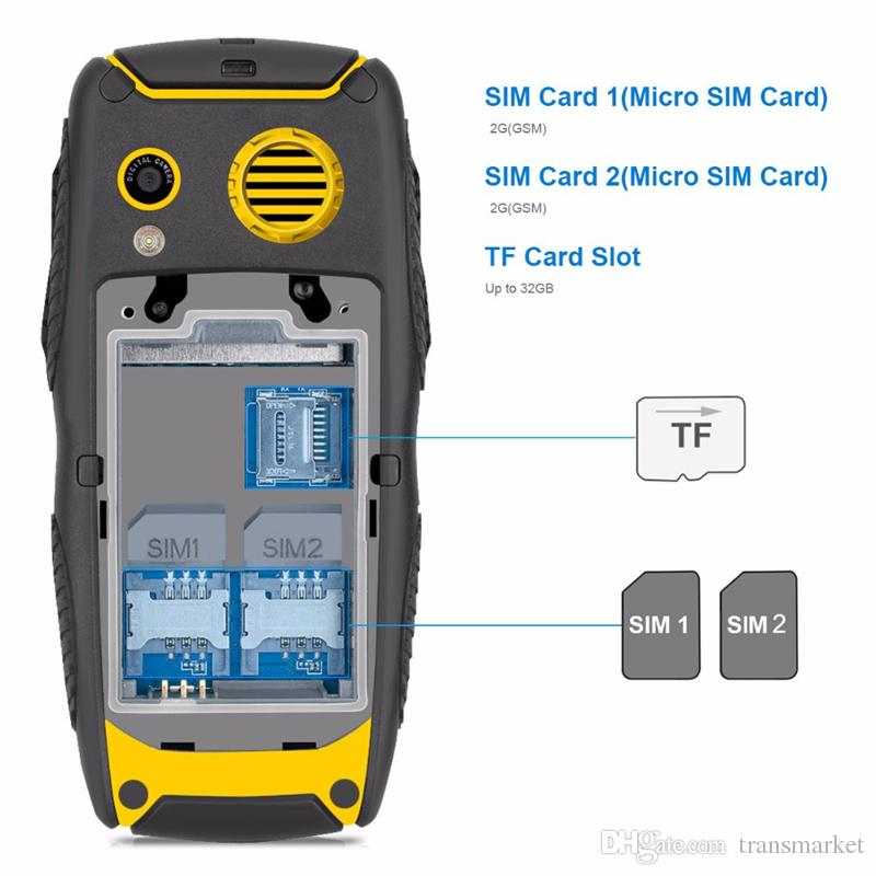 Original Kenxinda Proofing W3 Smartphone 2.2 Inch Waterproof Shockproof 32MB+32MB Mobile Phone 2G Dual SIM 2000mAh Cell Phone