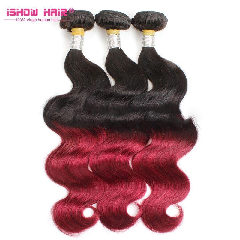 Egyptian Body Wave Human Hair Weaving 3bundles Color 99j Hair Weave