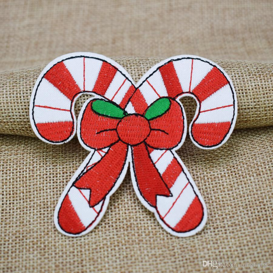 Christmas gift embroidery patches for clothing iron patch for clothes applique sewing accessories stickers on clothes iron on patches
