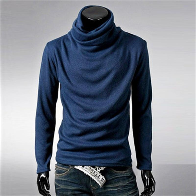 2018 Wholesale Men Turtleneck Sweater Cool Rotating Collar Twist ...