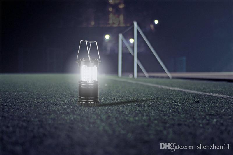 Lanternas ao ar livre Iluminação 30 LED Lanterna de Acampamento Mais Brilhante Luz Tenda Portátil Pendurado Lâmpada Caminhadas Pesca Lanterna Portátil OTH605