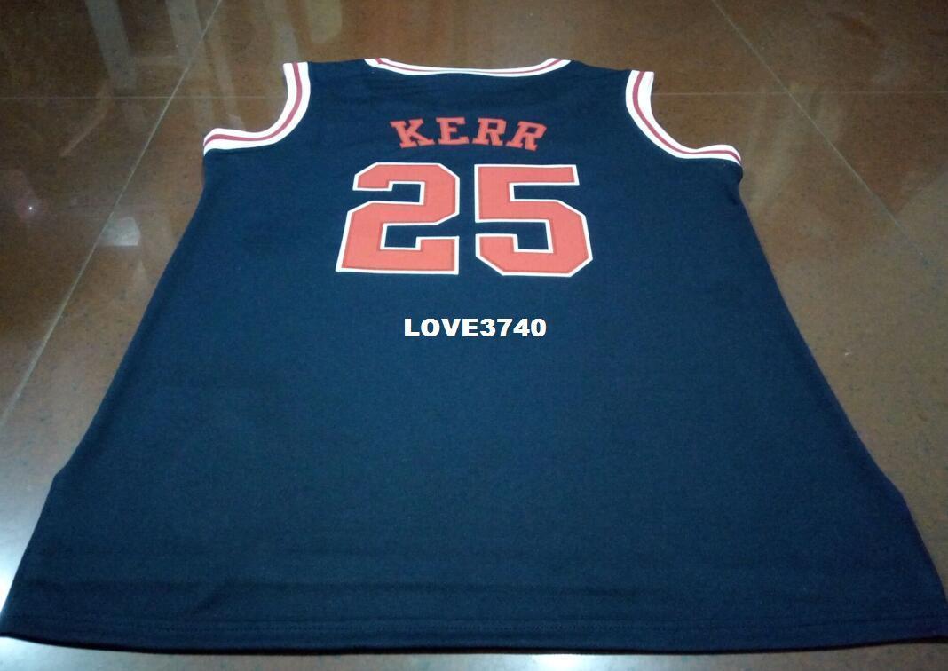 finest selection 3dffa 08159 Livraison gratuite # 25 Jersey Steve Kerr Arizona Wildcats College Marine  Bleu OU nom personnalisé et Jersey Haute qualité broderie Jersey