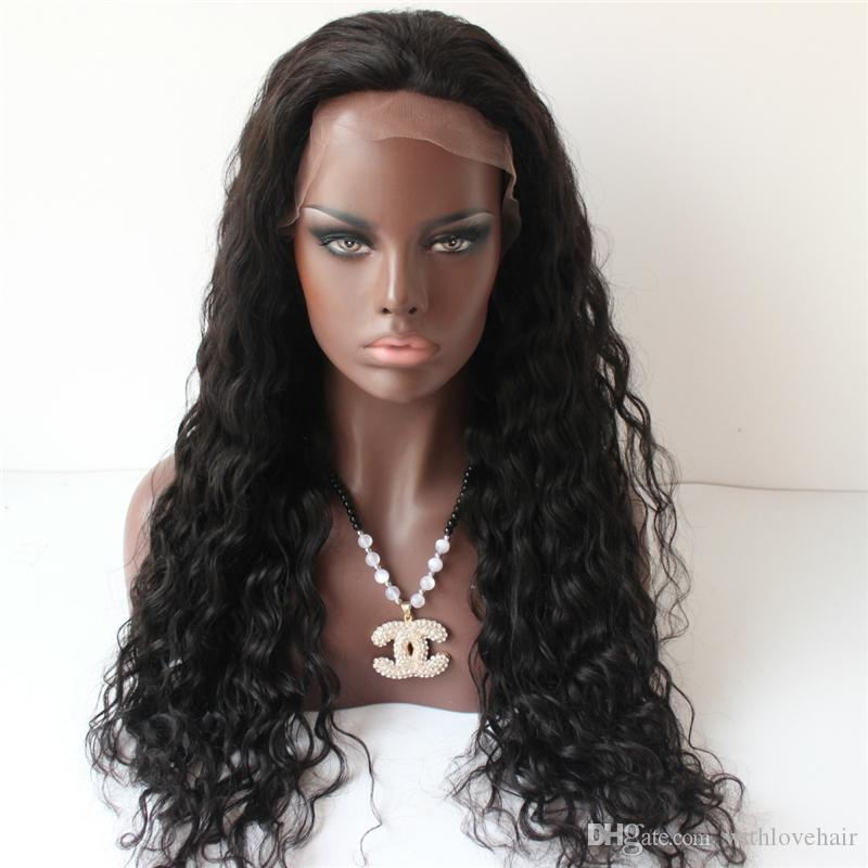 3ac69b512 100% real picture 150 Density Body Wave Full Lace Human Hair Wigs Brazilian  Virgin Hair Full Lace Unprocessed Lace Front Wigs