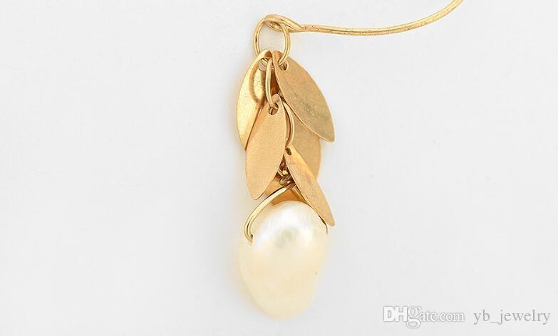 Exklusive neue Multi-Layer-Blütenblatt Art Quaste hängenden natürlichen Perle Anhänger Tropfen baumeln Ohrringe zarte Frauen Mädchen Schmuck Geschenk