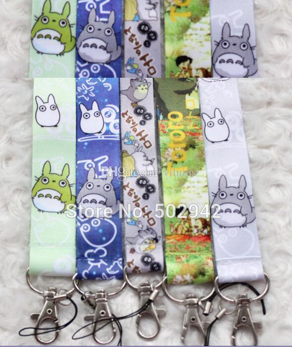 Wholesale Mix My Neighbor Totoro Neck Strap Lanyard Keychain Phone Camera ID Card Key Badge Holder New mixed colors