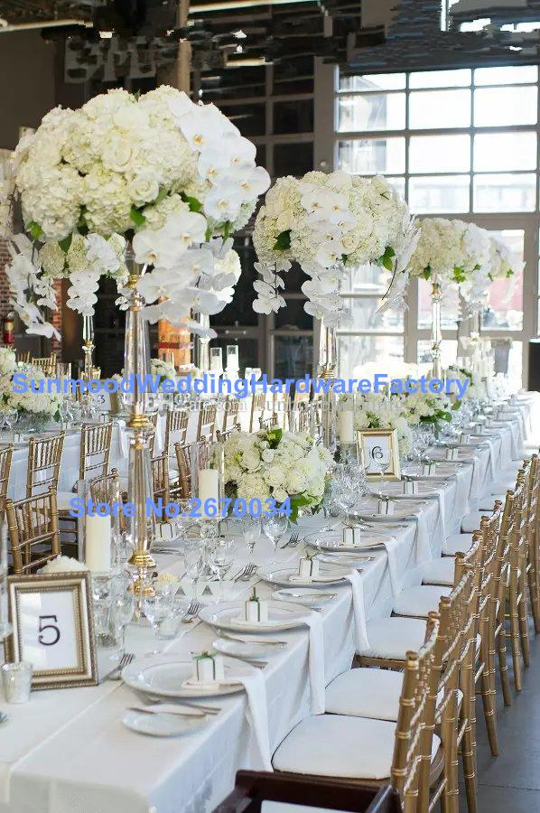 Luxury Wedding tall acrylic beautiful flower stand centerpiece for cheap wedding decoration