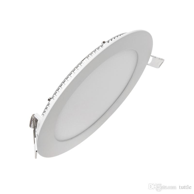 Ультра тонкой светодиодной панели Downlight 3W 6W 9W 12W 15W 18W 25W круглый светодиодный потолок утопленный свет AC85-265V