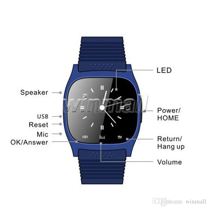 Bluetooth Smart Watches M26 Watch for iPhone Samsung HTC Android Phone health smartwatch woman free DHL