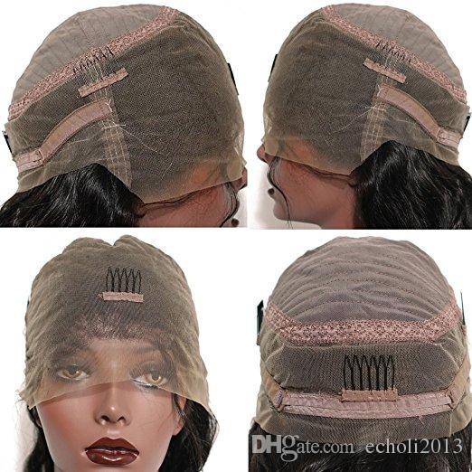 Ön koparıp tam dantel peruk 360 doğal saç çizgisi ile bebek saç 150% yoğunluklu gluleless ön peruk su dalgası 18 inç Hiçbir karışmayı dökülme