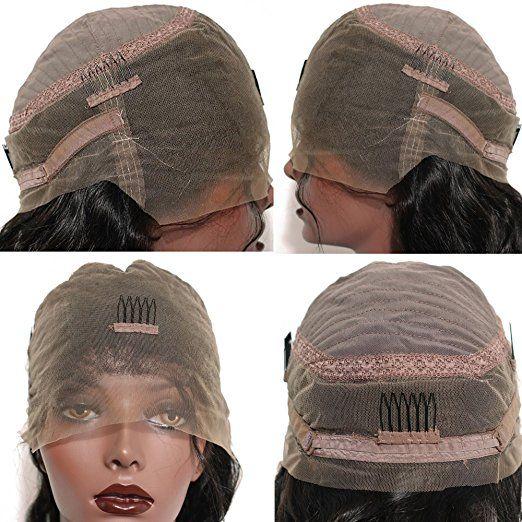 Parrucca del merletto di 150% di densità riccia le donne nere l'onda di acqua pre pizzicata 360 parrucca frontale del merletto parrucche brasiliane dei capelli 2019 caldo