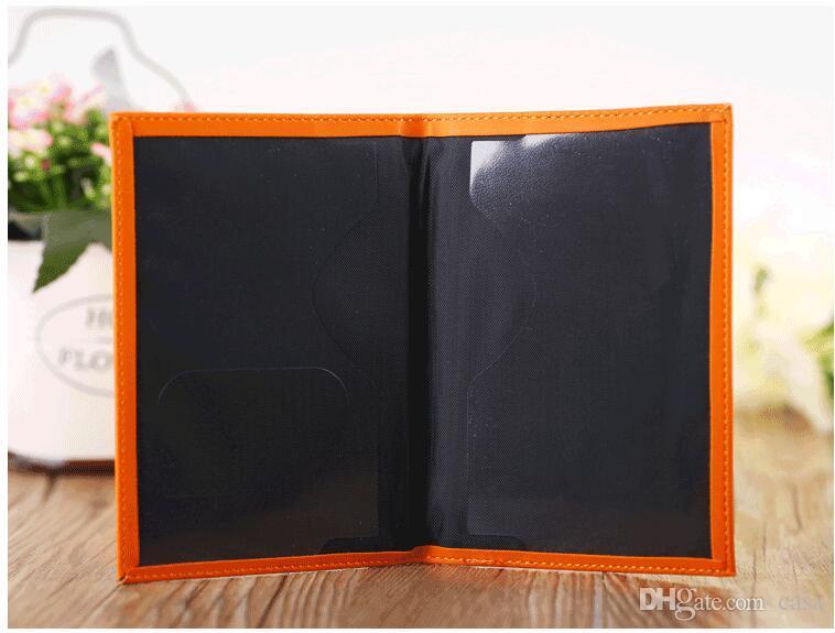Haute Qualité Style Coréen 11 Couleurs Titulaire De La Passeport Portefeuilles Titulaires de La Carte Couvre Étui Protecteur PU Porte-cartes En Cuir De Voyage