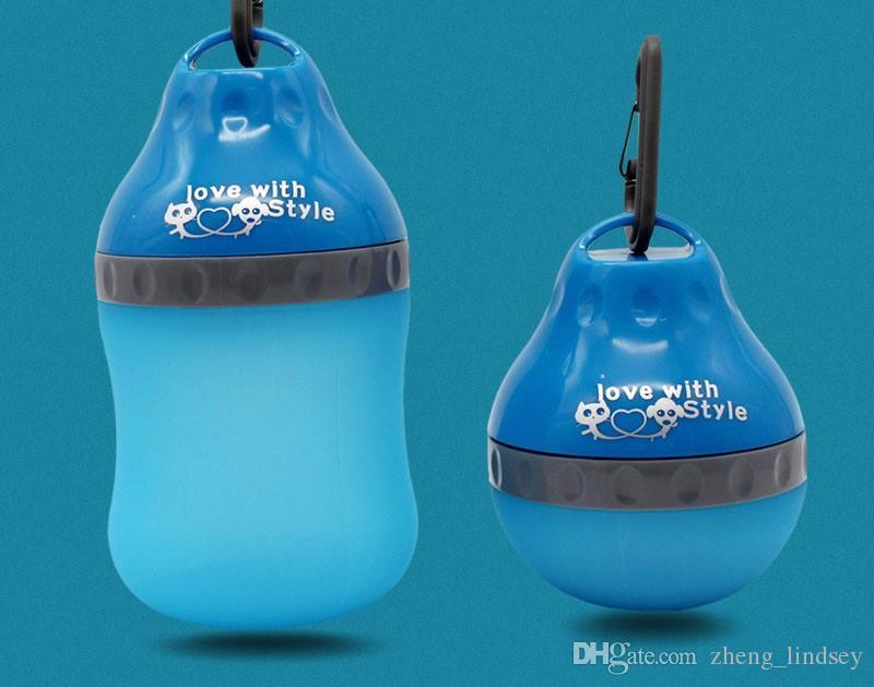 Wysokiej jakości podajniki dla psów Dopasuj odkryty turystyczny piesze wycieczki / gumowa żywność pojemnik i butelka wody 2 w 1 dla psów dla zwierząt