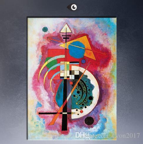 WASSILY KANDINSKY Durchgehender Strich Peinture murale tableau feuille Art Décoratif pour la Maison Image Peinture sur Toile