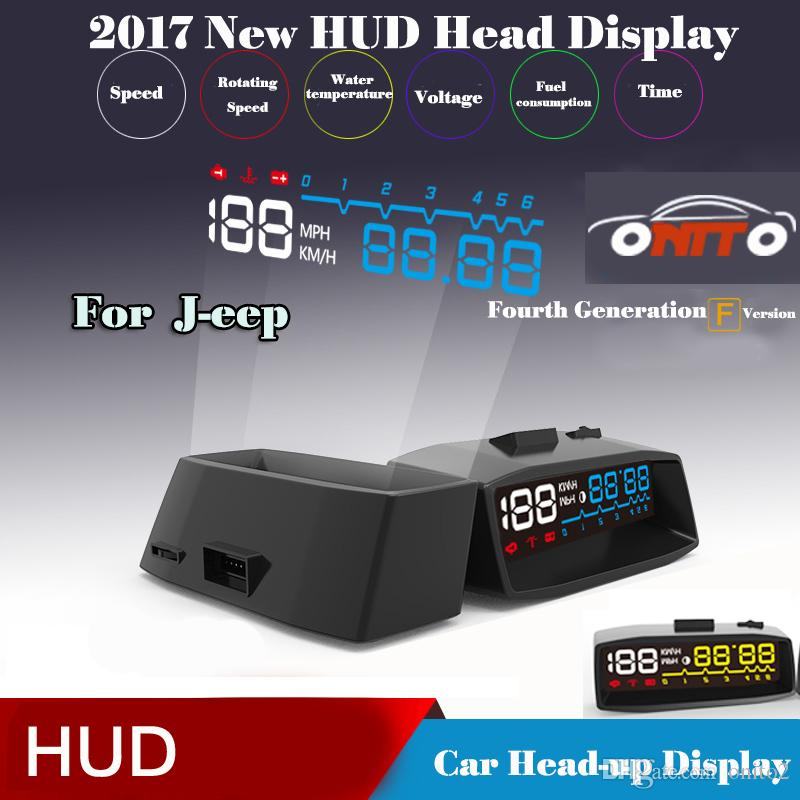 OBD II /Euro OBD Outlet switch line Auto HUD Lighting Car HUD head up displays For Cherokee Liberty Rubicon Wrangler HUD Lamp GPS