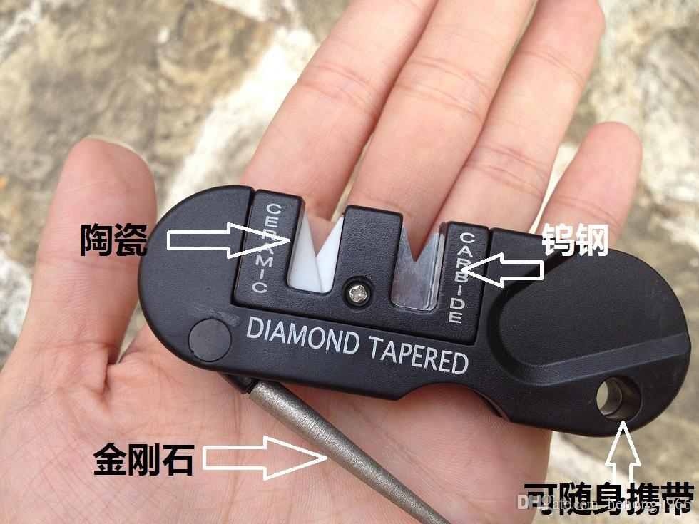 EDC передач точилки многофункциональный Керамический карбид точилка алмазный точильный камень точильный камень точить конические открытый портативный инструменты новые 11bs АР