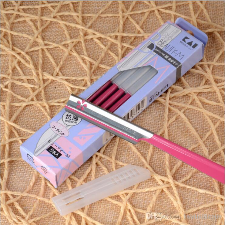 /box Straight Edge Stainless Steel Facial Eyebrow Razor Trimmer Shaper Shaver Blade Knife Hair Remover Tinkle