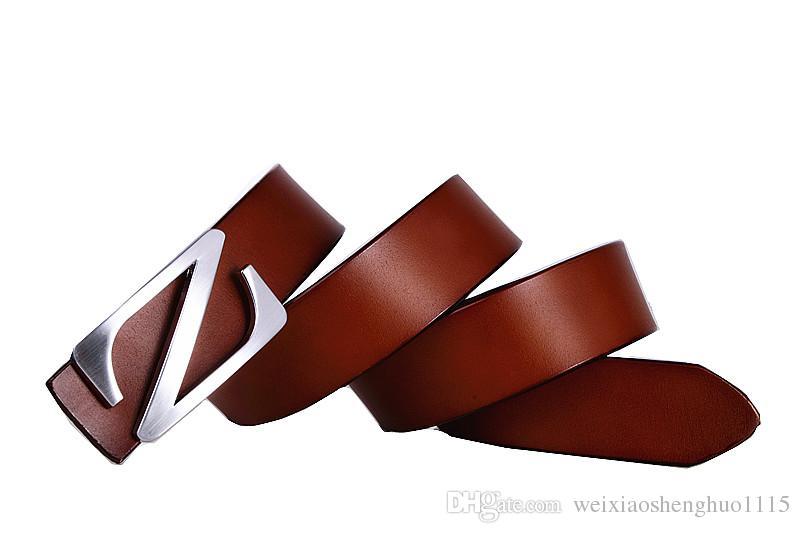 2017 correas de diseño de los hombres de alta calidad M Z corchete cinturones de cinturón de lujo para las mujeres cinturones para hombres cinturón de cuero