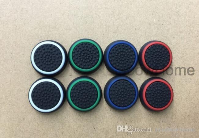 Étui de protection de protection de bouchon de protection en caoutchouc de silicone lumineux PS4 PS5 Xbox Un 360 Contrôleur Dualshock 4 Dual Colors Drapeaux