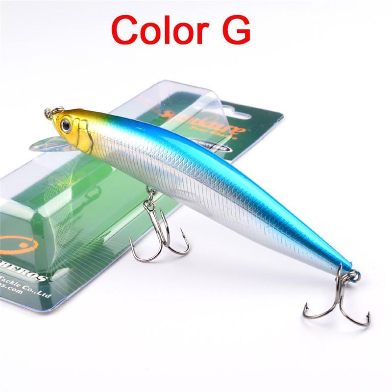 Esche da pesca artificiali di pesciolini 3D 3D i 24 g 13,5 cm Scatola di plastica Esche laser trasparenti Profondità di immersione 1,5-3,5 m