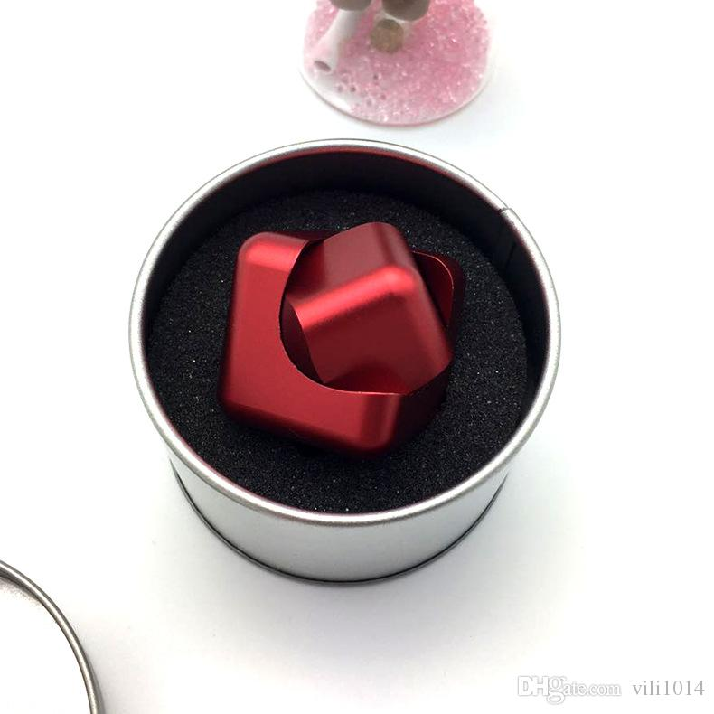 New Alloy Cube Fingertip Gyro Whirlwind Square Cube Fidget Spinner EDC Decompression Toys Hand Spinner Finger spinner Anti Stress Toys