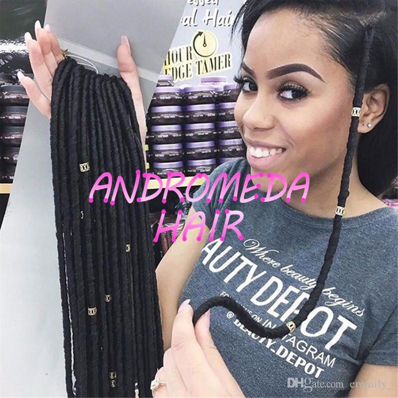 14 Inch 70gpack Faux Locs Crochet Black Dreadlocks Hair Synthetic