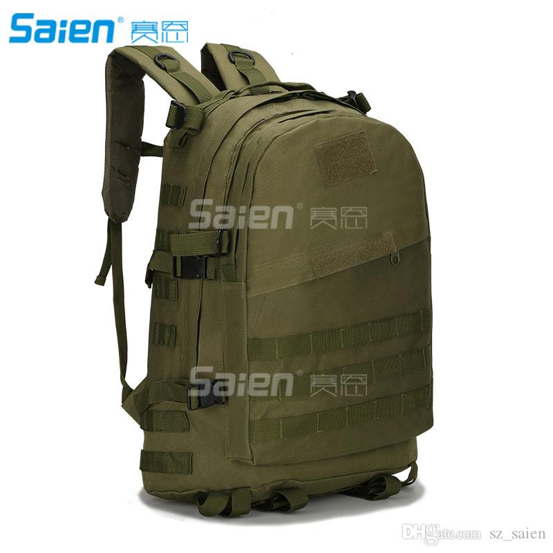 e95cd21a3f8f 2019 Tactical Backpack Outdoor Camping Hiking Hunt Trekking Assault Rucksack  Travel Molle Daypack Bag Expandable Waterproof 40L Capacity From Sz saien