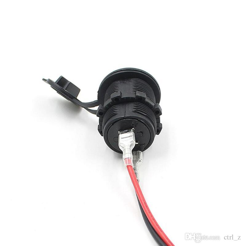 Auto Motorrad 2 USB Buchse Ladegerät Netzteil Outlet Power Smartphone Ladegerät DC 5V 2.1A / 1A für Auto LKW Minibus Boot