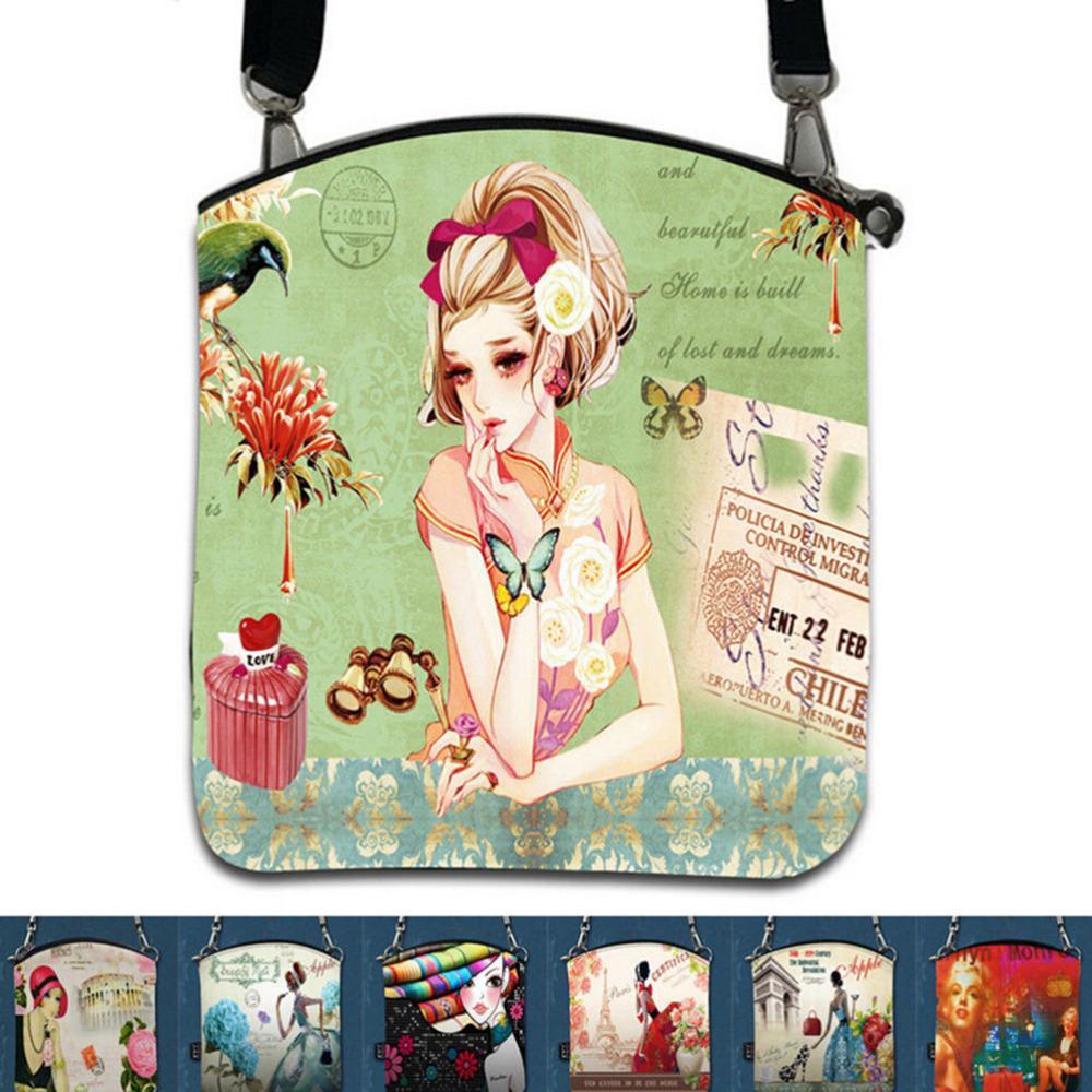 a30172145efc Wholesale Feminina Women Messenger Bags Vintage Canvas Printing Small  Satchel Shoulder European Style Girls Handbag Lady Crossbody Bag Leather Purse  Womens ...