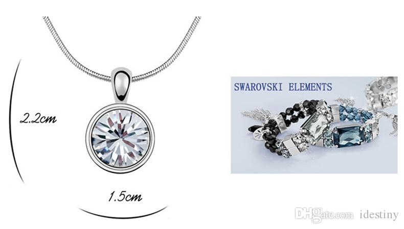 Moda markaları takı toptan klasik XIRUS Chaton Taş kolye Kadınlar hediye için Swarovski gelen Avusturyalı kristaller ile Yapılan