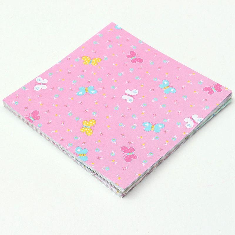 Hot Square Floral Pattern Origami Paper Single Sided DIY Kids Folded Paper Craft Scrapbooking Decor Pattern Randomly