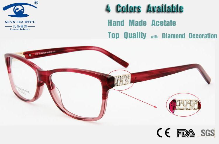 a15f01e4e4f 2019 Wholesale Diamond Spectacle Frames Women Fashion Eyeglasses Italy  Design Quality Acetate Luxury Glasses Brand New Products For 2015 From  Heathere