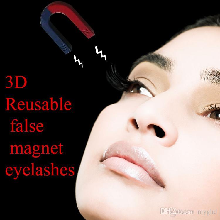 Magnetic Eye Lashes 3D Mink Reusable False Magnet Eyelashes Extension 3d eyelash extensions magnetic eyelashes makeup