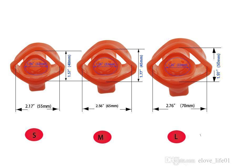 Silicona Cock Cage Dispositivos de castidad masculina para hombres Pene Jaula Cinturón de castidad Gay Juego para adultos Juego Sex Toy Pene Lock Dispositivo Bondage CP-A140