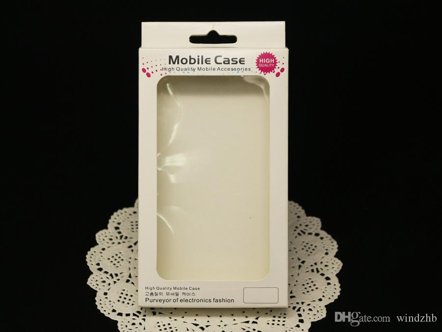 Universal Cell Phone Case Retail Packaging Package Box för iPhone 6 5 5S 5C 4 Galaxy S 5 4 I9500 S3 I9300 Not 3 2 Fallkåpa Papperspaket