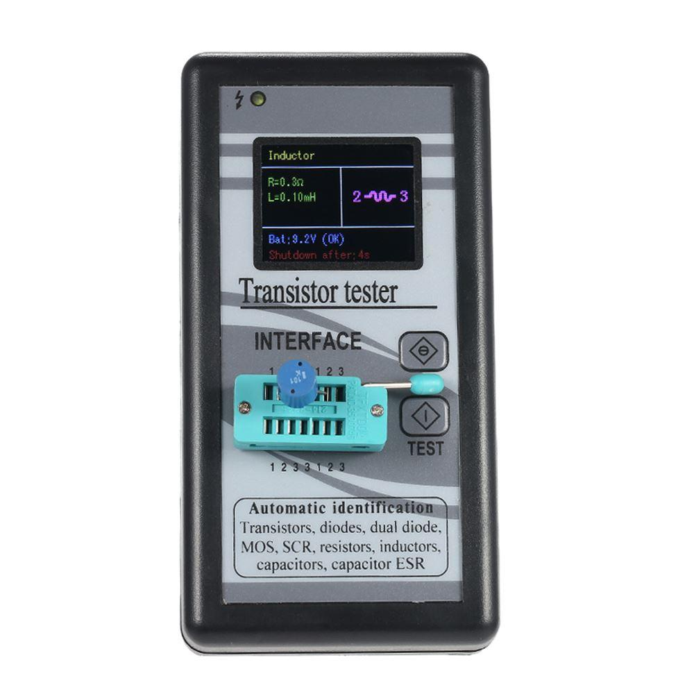 Freeshipping Multi-purpose Transistor Tester 128*160 Diode Thyristor Capacitance Resistor Inductance MOSFET ESR LCR Meter TFT Color Display