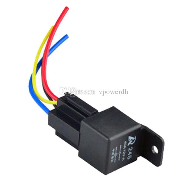 1Pc 12V 12Volt 40A Auto Automotive Relay Socket 40 Amp 4 Pin Relay  Pin Auto Relay Wiring on