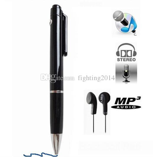 8GB Digital Voice Recorder N16 Mini Pen Audio voice Recorder Stereo Dictaphone pen With MP3 player support WAV Format