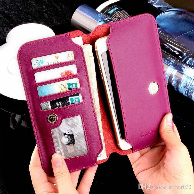 Case für samsung s8 plus echtes leder flip wallet ultradünne abdeckung für iphone 7 plus mode reine handgemachte case huawei p10