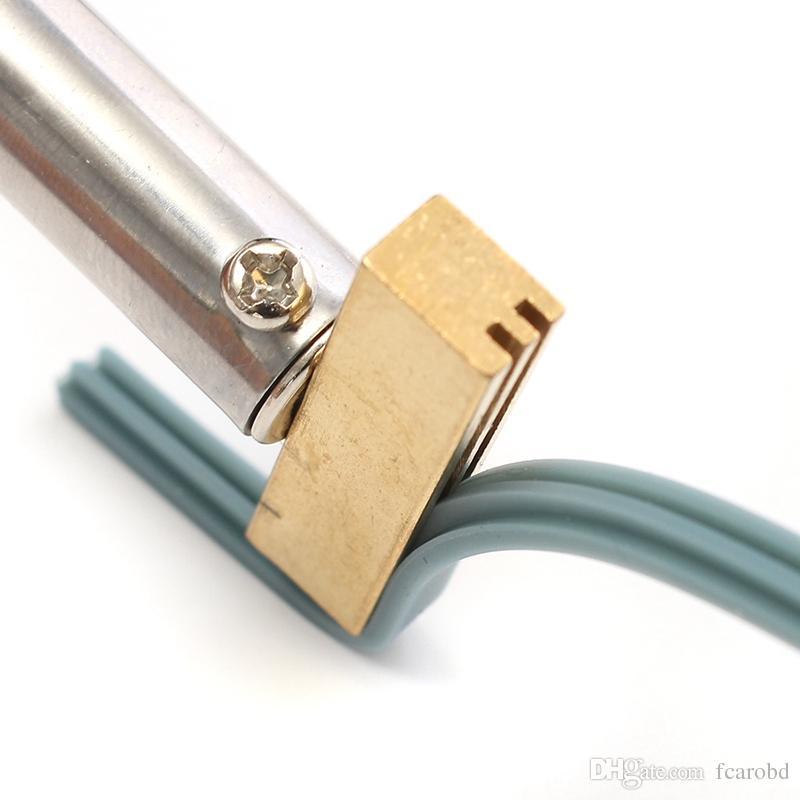 Soldatura da 40W saldatura in ferro T punta saldare il ferro t testa con striscia di gomma la riparazione del cavo del nastro del pixel LCD