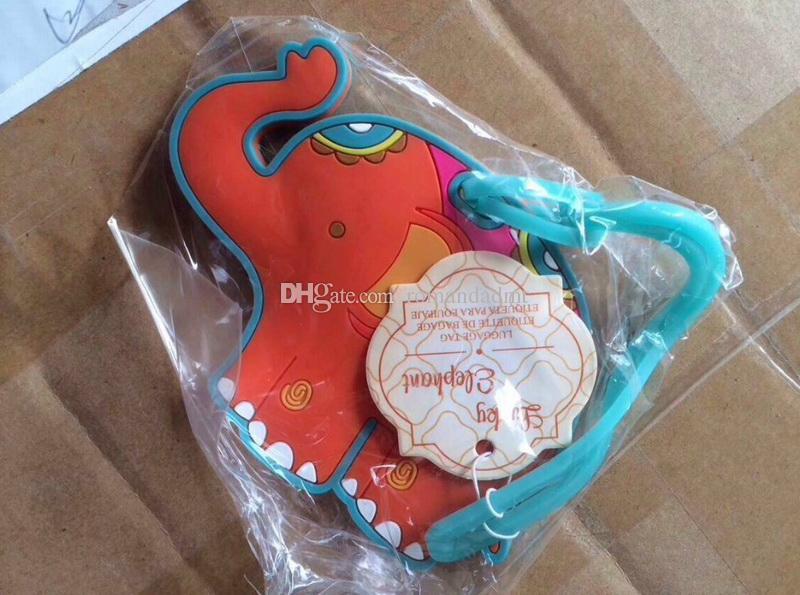 Cute Cartoon Animal Luggage Tag Owl / Bird / Elephant Travel Card Wedding Favors Party Small Gift +DHL