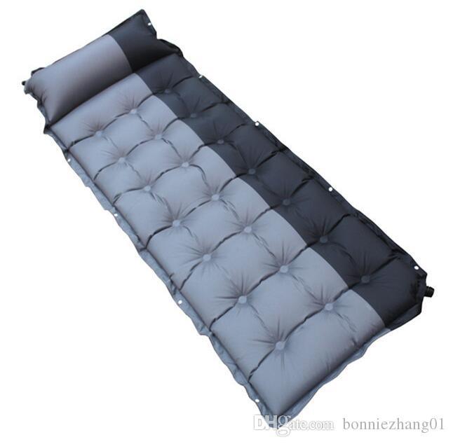 Автоматическая надувные кемпинг мат открытый палатки спальный дышащий коврик влагостойкие воздуха мат матрас с подушкой