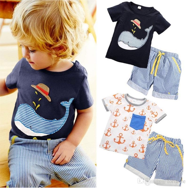Baby Boutique Clothes Summer Toddler Tracksuit Kids Children Clothing Set Sport Suit Infant Sunsuit Baby Outfit Cool Boys Shirt Shorts