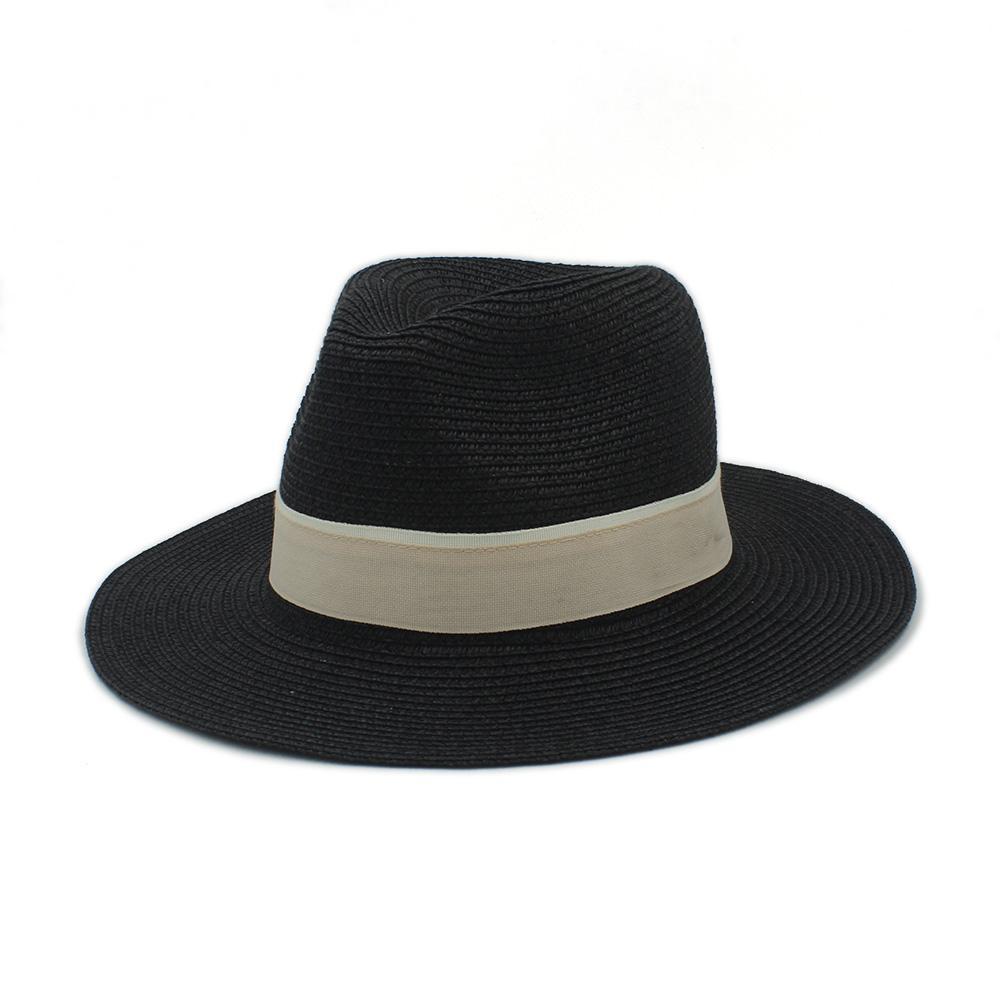 8766262ad5d Wholesale- Fashion Women Men Summer Straw Sun Hat For Elegant Lady ...