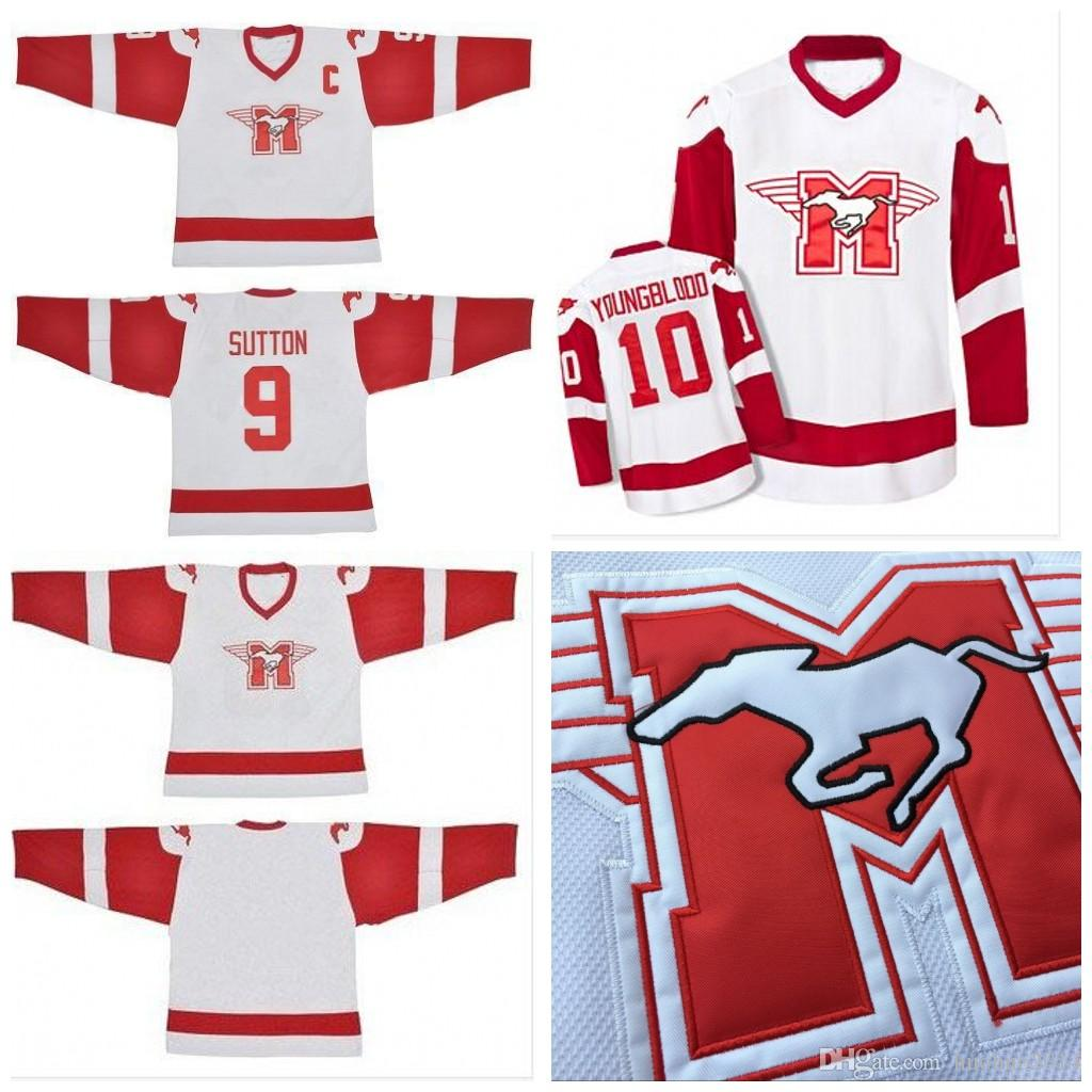 Men Women Youth  9 SUTTON  10 YOUNGBLOOD Movie Hamilton MUSTANGS Custom Ice Hockey  Jersey Blank 9 SUTTON 10 YOUNGBLOOD Jerseys UK 2019 From Huohuo2014 9bc7244364